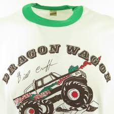 100 Monster Truck T Shirts Vintage 80s Dragon Wagon Shirt Ag XL Fits Large Deadstock