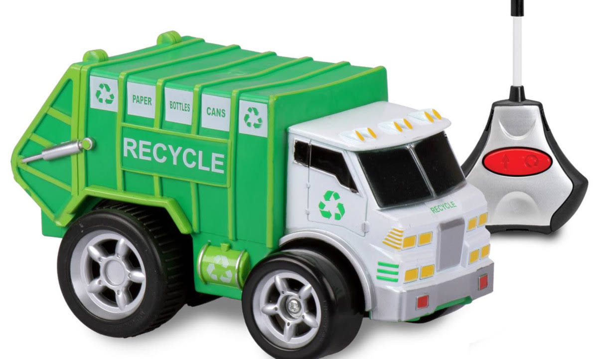 Kid Galaxy Preschool Remote Control Recycle Truck with Soft, Safe, Squeezable Body