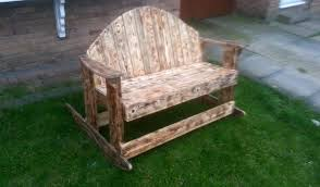 Recycled Pallet Patio Bench