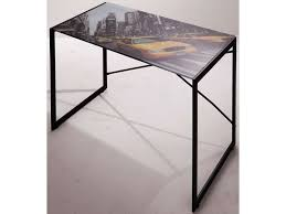 table bureau verre bureau plaque de verre excellent table bureau moderne et peu