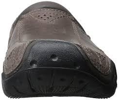 crocs mens swift water leather clg fisherman sandal espresso