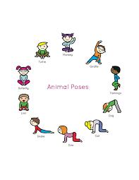 Kids Yoga Book My First Animal Poses