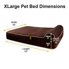 Extra Large Orthopedic Dog Bed by Dog Bed Orthopedic Memory Foam With Pillow Brown Extra Large