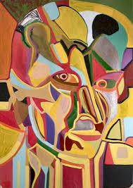 Abstract Art Portrait Of Woman II