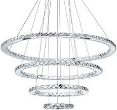 pendelleuchte led kristall hängeleuchte modern ring design