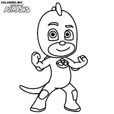 Gecko Pj Mask Coloring Page Printable Download PJ MASKS COLORING PAGES