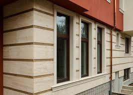 100 Travertine Facade House BULKAM DECOR