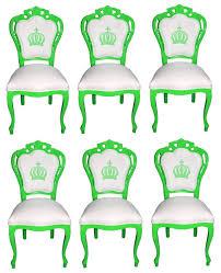 pompöös by casa padrino luxus barock esszimmerstühle weiß grün pompööse barock stühle designed by harald glööckler 6 esszimmerstühle barock