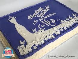 Wedding Shower Sheet Cake And Cupcakes