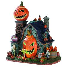 Lemax Halloween Village Displays by Lemax Spooky Town The Mad Pumpkin Patch