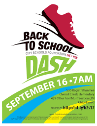 city schools foundation back to school 5k 10k dash murfreesboro