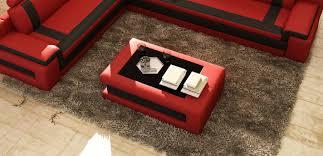 design couchtisch polster wohnzimmer beistell tische moderner sofa tisch leder