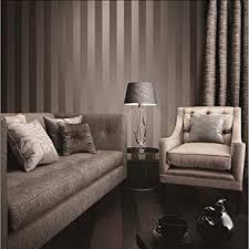 luxus metallic gold und braun strukturierte streifen tapete