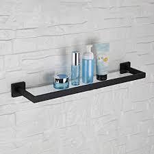 casewind badablage schwarz matt bad glasregal dusche wandregal antik edelstahl wandmontage mit bohren badezimmer accessoires