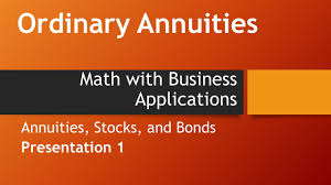 Sinking Fund Annuity Calculator by Ordinary Annuities Math With Business Applications Annuities
