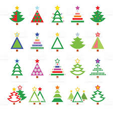 Types Of Christmas Trees In Oregon by Christmas Tree Various Types Vector Icons Set Stock Vector Art