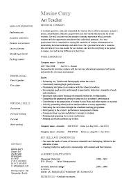 Sample Resumes For Teachers With Experience Of Teaching Resume Art Teacher Example Template