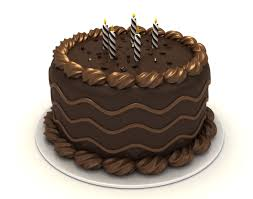 Brown clipart birthday cake 7