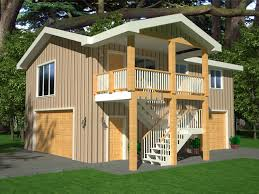 G418 Apartment Garage Plans 26 x 36 x 9 with 2nd story apartment