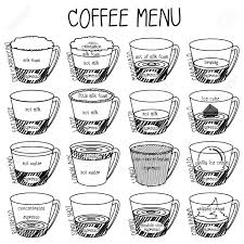 Sketching Of Cute Coffee Cup Great For Banner And Interior Decoration In Cafe Shop