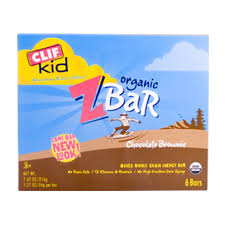 Clif Bar Kids Organic ZBar Chocolate Brownie 6 Bars 762