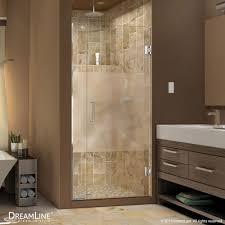 Bathtub Doors Oil Rubbed Bronze by Unidoor Plus Half Frosted Glass Shower Door