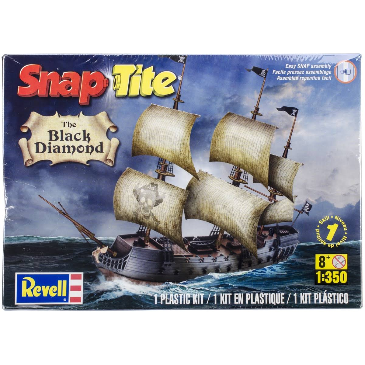 Revell The Black Diamond Pirate Ship Snap Tite Plastic Model Kit