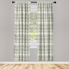 gardine fensterbehandlungen 2 panel set für wohnzimmer schlafzimmer dekor abakuhaus winkel vintage zickzacklinien kaufen otto