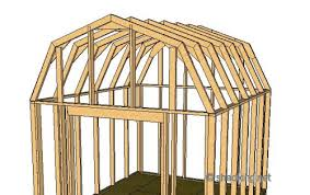 8x10 Saltbox Shed Plans by Shed Roof Gambrel How To Build A Shed Shed Roof