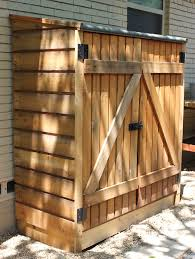 storage shed with wood slats on the sides garage ideas