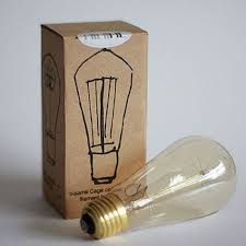 antique edison bulb squirrel cage teardrop filament bulb view