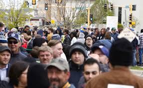 Fargo Pumpkin Patch by Hundreds Already Lining Up For Bernie Sanders Rally In Fargo Inforum