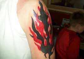 Tribal Flame Tattoos Designs For Men On Sleeve