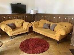 sofa sitzgarnitur set sessel vintage wohnzimmer möbel