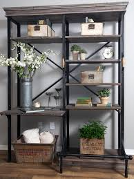 Plants Decor In The Rack Ideas With Astonishing Rustic Bookcase Interior Design Degree Online