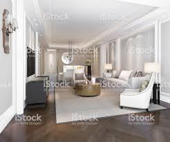3d rendering luxus und moderne wohnzimmer und esszimmer stockfoto und mehr bilder architektur