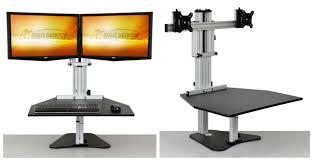 Kangaroo Standing Desk Dual Monitor by Enter To Win An Adjustable Height Desk By Ergo Desktop Usa Love List