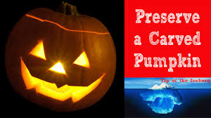 Best Way To Carve A Pumpkin Lid by Carve Halloween Pumpkins Then Preserve It With Bleach Youtube