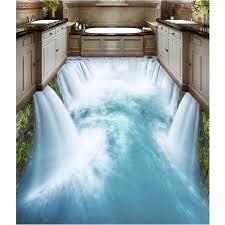 neue verschleißfesten 3d wandbild wasserfall boden tapeten für schlafzimmer badezimmer wandaufkleber abnehmbare wasserdichte wohnkultur 395