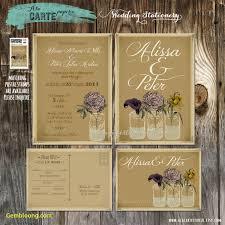 Rustic Mason Jar Wedding Invitation And Rsvp Jars Vintage Lovely Diy Kraft Paper