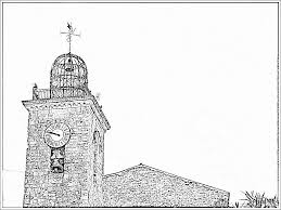 Bell Tower And L The Muy Clock Coloring Page