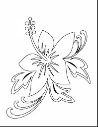 Awesome Tropical Flower Coloring Pages With Of Flowers And For