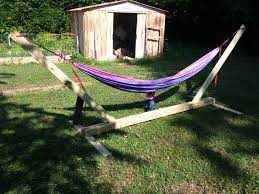 15 DIY Hammock Stand To Build This Summer – Home And Gardening Ideas Fniture Indoor Hammock Chair Stand Wooden Diy Tripod Hammocks 40 That You Can Make This Weekend 20 Hangout Ideas For Your Backyard Garden Lovers Club I Dont Have Trees A Hammock And Didnt Want Metal Frame So How To Build Pergola In Under 200 A Durable From Posts 25 Unique Stand Ideas On Pinterest Diy Patio Admirable Homemade To At Relax Your Yard Even Without With Zig Zag Reviews Home Outdoor Decoration