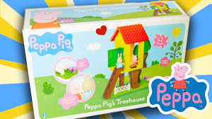 canap駸 anglais peppa pig treehouse peppa peppa pig toys unboxing