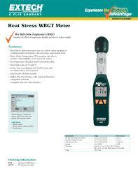 vanguard electronic ht30heat stress wbgt bulb globe