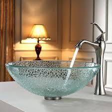 irruption blue rectangular glass vessel bathroom sink with