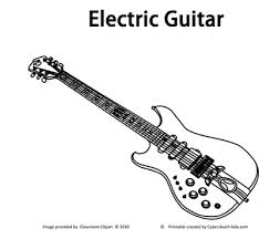 Electric Guitar Musical Instruments Coloring Pages Printable