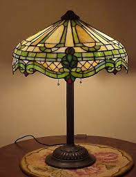 Ebay Antique Table Lamps by Rare Antique Leaded Slag Stained Glass Arts U0026 Crafts Gorham Table