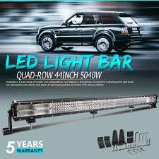 10D 44Inch 5040W Quad-Row LED Work Light Bar Spot Flood Offroad ...