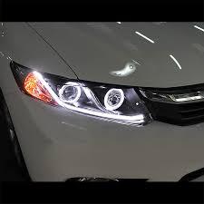honda headlights 12 15 honda civic sedan 12 13 coupe drl led optic